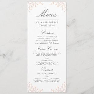 Secret Garden Wedding Dinner Menu - Blush