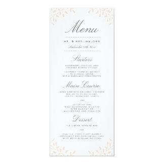 Secret Garden Wedding Dinner Menu - Blush 10 Cm X 24 Cm Invitation Card