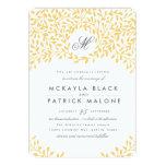 Secret Garden Wedding Invite - Mustard 13 Cm X 18 Cm Invitation Card