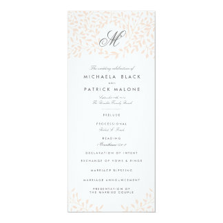 Secret Garden Wedding Programs - Blush