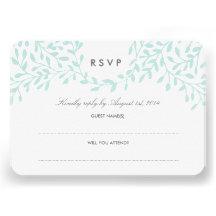 Secret Garden Wedding RSVP - Mint Personalized Announcement