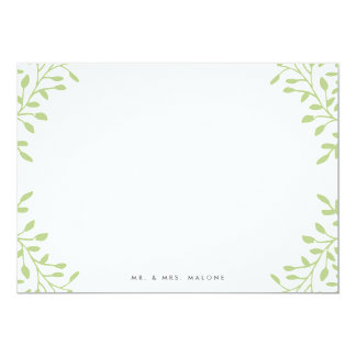 Secret Garden Wedding Stationery - Apple Card