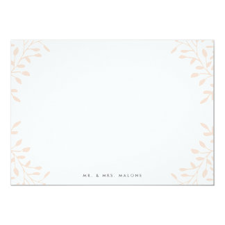 Secret Garden Wedding Stationery - Blush 13 Cm X 18 Cm Invitation Card