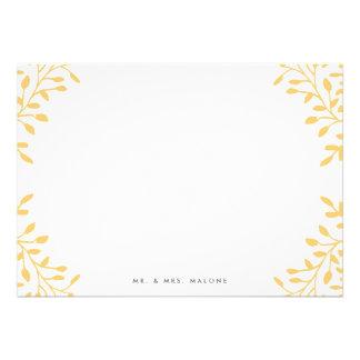Secret Garden Wedding Stationery - Mustard Yellow Personalized Announcement