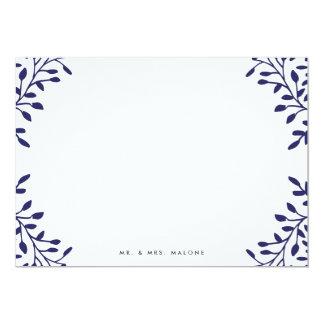Secret Garden Wedding Stationery - Navy 13 Cm X 18 Cm Invitation Card