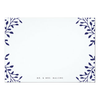 Secret Garden Wedding Stationery - Navy 13 Cm X 18 Cm Invitation Card