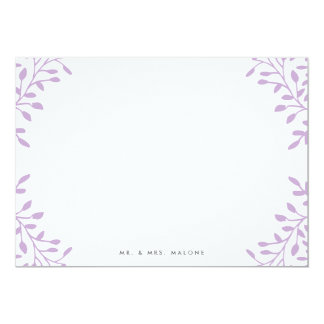 Secret Garden Wedding Stationery - Orchid Purple Card