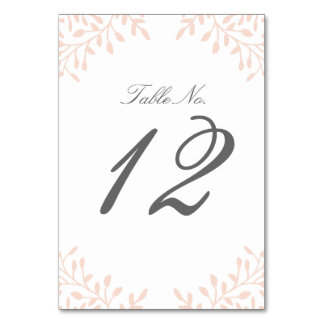 Secret Garden Wedding Table Number - Blush Table Cards