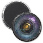 Secret hidden camera lens 6 cm round magnet