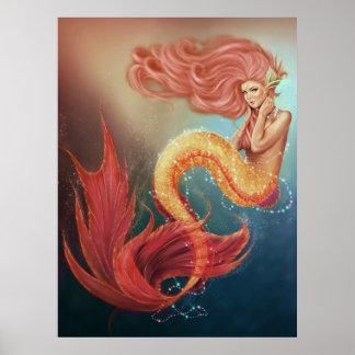 Secret Oceans of Sea Jewels Mermaid Poster
