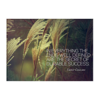 Secret Of Durable Success Acrylic Wall Art
