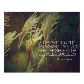 Secret Of Durable Success Poster