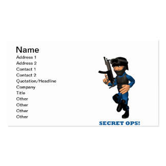 Secret Ops Pack Of Standard Business Cards
