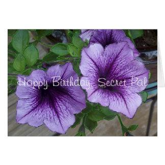 Secret Pal Petunia birthday Card
