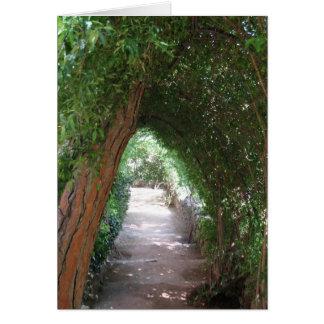 Secret Path in Gaudi's Garden - Photo Card