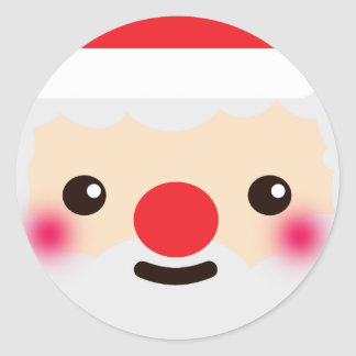 Secret Santa Classic Round Sticker