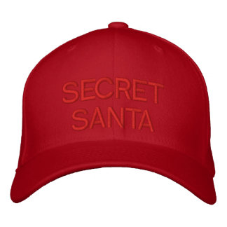 SECRET SANTA - Customizable Cap by eZaZZleMan.com Embroidered Hats