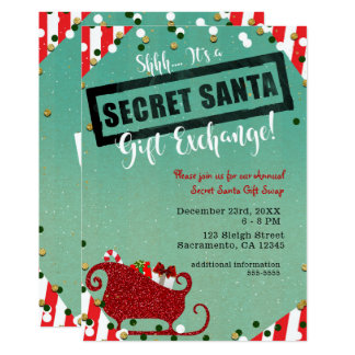 Secret Santa Invitations Announcements Zazzle Com Au