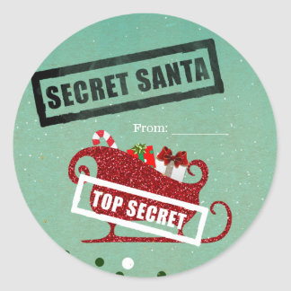 Secret Santa Gift Exchange Christmas Holiday Party Classic Round Sticker