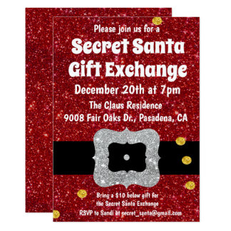 Secret Santa Gift Exchange Invitation