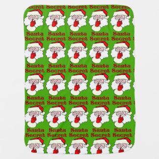 Secret Santa on Christmas Baby Blanket
