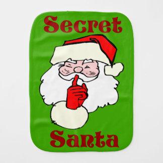 Secret Santa on Christmas Burp Cloth
