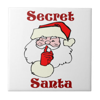 Secret Santa on Christmas Ceramic Tile