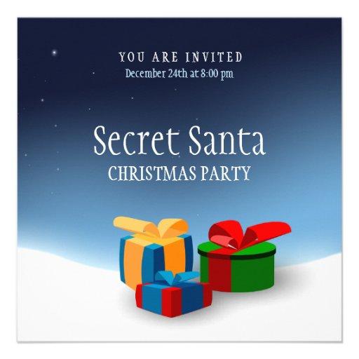 Secret Santa Invitation Template - Secret Santa Party invitation ...