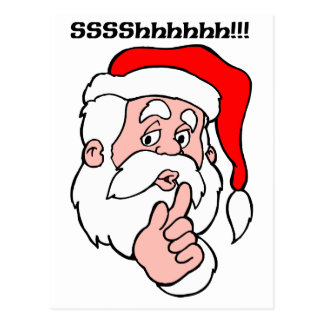 Secret Santa Sssshhhh!! Postcard