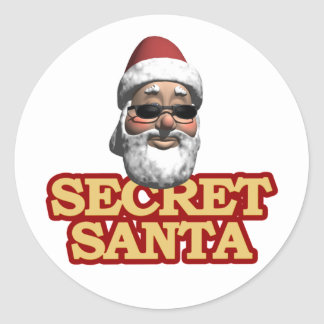 Secret Santa stickers