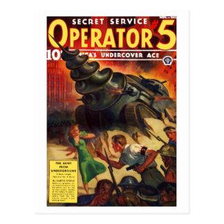 Secret Service Operator # 5 Postcard