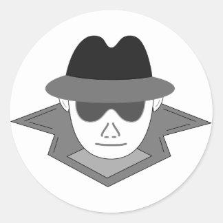 Secret Spy Classic Round Sticker