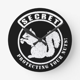 Secret Squirrel Patch Protecting Your Nuts Wall Clocks