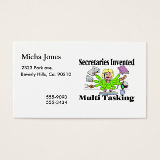 Secretaries Invented Multi Tasking Business Card