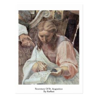 Secretary Of St. Augustine By Raffael Postcard