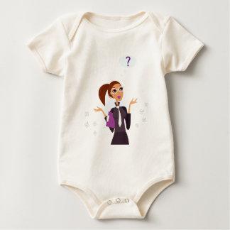 Secretary Original art drawing Baby Bodysuit