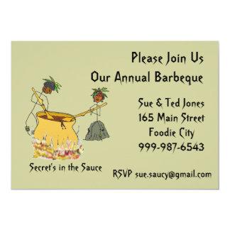 Secret's in the Sauce-Stick Figure Chefs BBQ Card