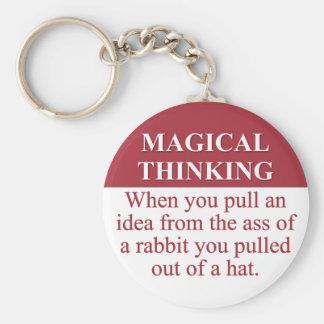 Secrets of Magical Thinking (3) Key Ring