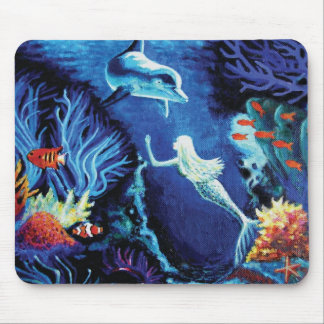 Secrets Of The Coral Reef - Mermaid Mouse Pad
