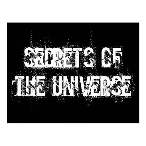 Secrets of the Universe Post Card