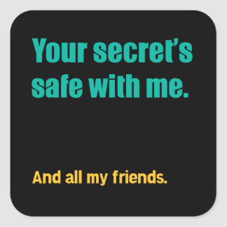 Secret's Safe Square Sticker