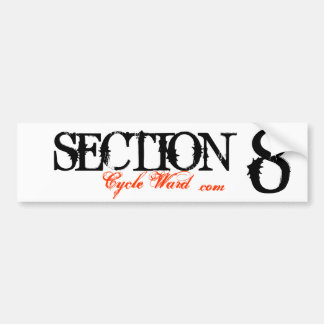 SECTION , 8, Cycle Ward, .com Bumper Sticker
