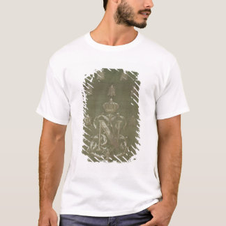 Section of green and gold damask T-Shirt