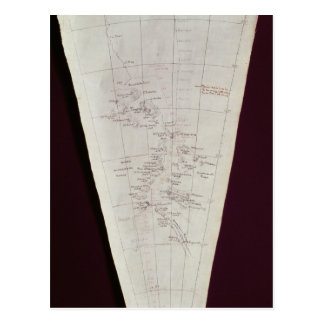 Section of Map from Ross Island to South Pole Postcard