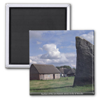 Section of the pre-historic stone circle at Avenbr Refrigerator Magnet