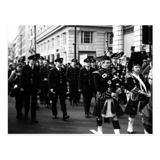 Section  of the St Patrick's Day Parade, London Postcards