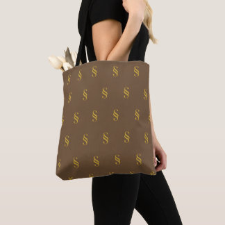 Section Symbol Brown Tote