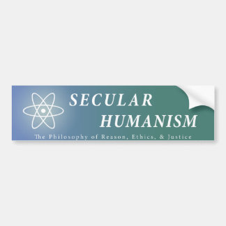 Secular Humanism Bumper Sticker