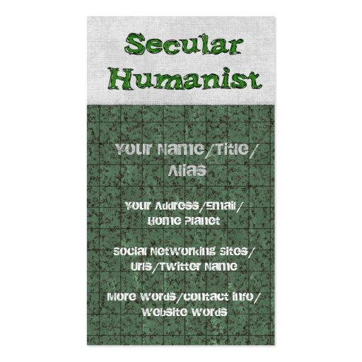 Secular Humanist Business Cards