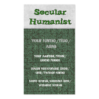 Secular Humanist Pack Of Standard Business Cards